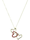 Stacked Heart Necklace - All That Glitters - 1