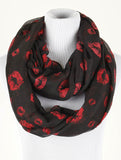 Kiss Print Infinity Scarf - All That Glitters - 1