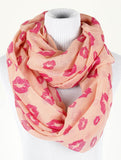 Kiss Print Infinity Scarf - All That Glitters - 2