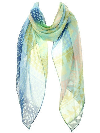 Multi Color Stripe Scarf - All That Glitters - 4