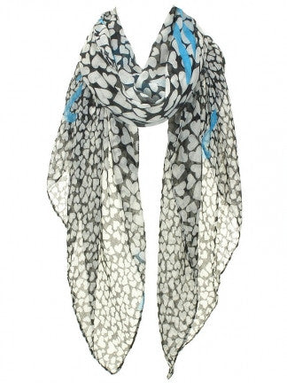 Heart Print Scarf - All That Glitters - 2