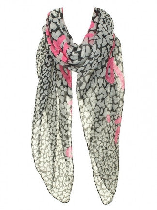 Heart Print Scarf - All That Glitters - 1