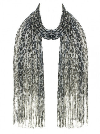 Metallic Leopard Print Scarf - All That Glitters - 1