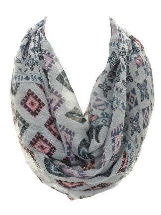 Multi Color Square Motif Infinity Scarf - All That Glitters - 4