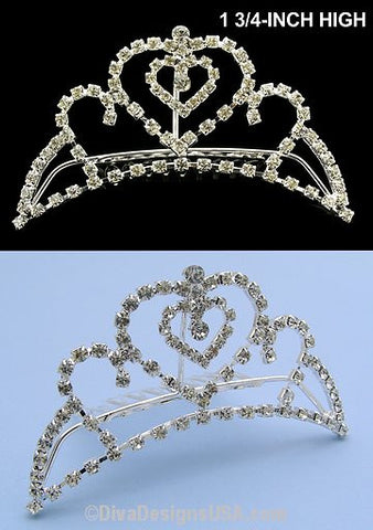 Tiara Comb w/heart - All That Glitters