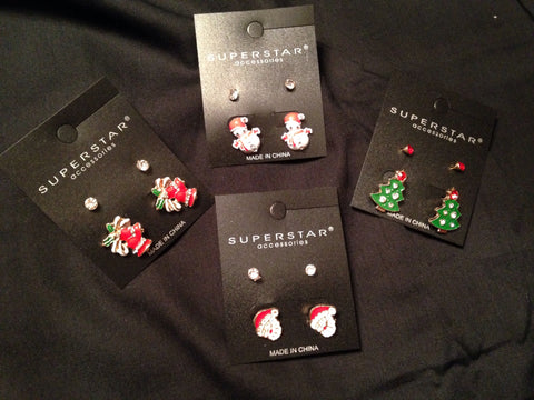 Christmas Earrings - All That Glitters - 1