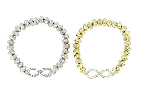 Beaded Infinity Bracelet - All That Glitters