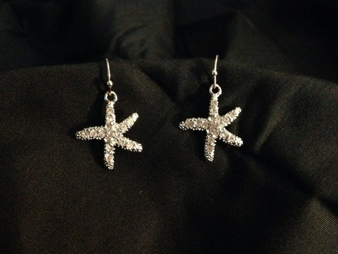 Starfish With Stone Earrings - All That Glitters