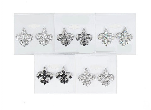 Fleur De Lis Post Earrings - All That Glitters
