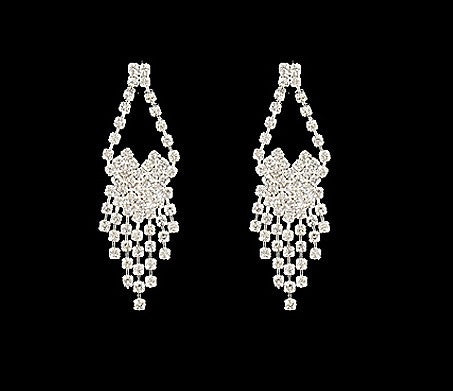 Cascading Rhinestone Earrings - All That Glitters