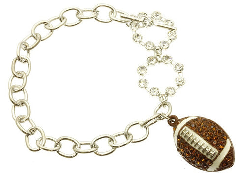 Football Toggle Bracelet - All That Glitters