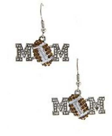 Football Mom Earrings - All That Glitters