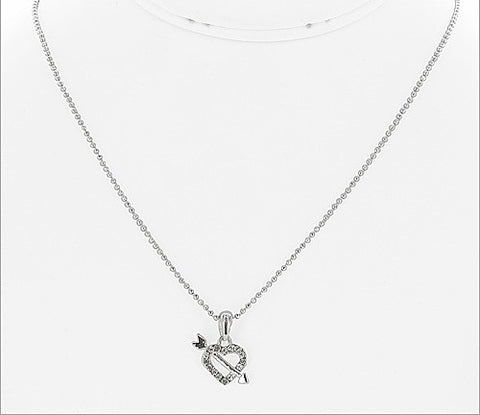 Crystal Heart and Arrow Necklace - All That Glitters