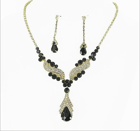 Formal Rhinestone Necklace And Earring Set - All That Glitters - 3