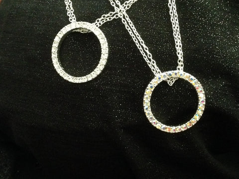 Rhinestone Circle of Life Necklace - All That Glitters - 1