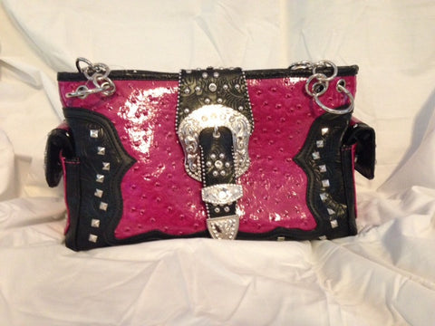 Rhinestone Buckle Handbag - All That Glitters - 1