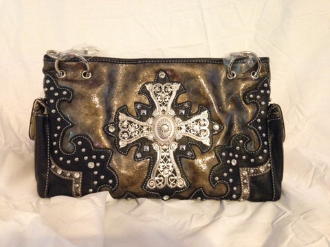 Rhinestone Cross Handbag - All That Glitters