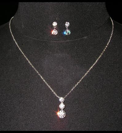 Past, Present, Future Necklace set - All That Glitters