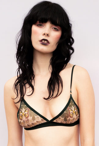 Grace Bralette in Green Sabbath