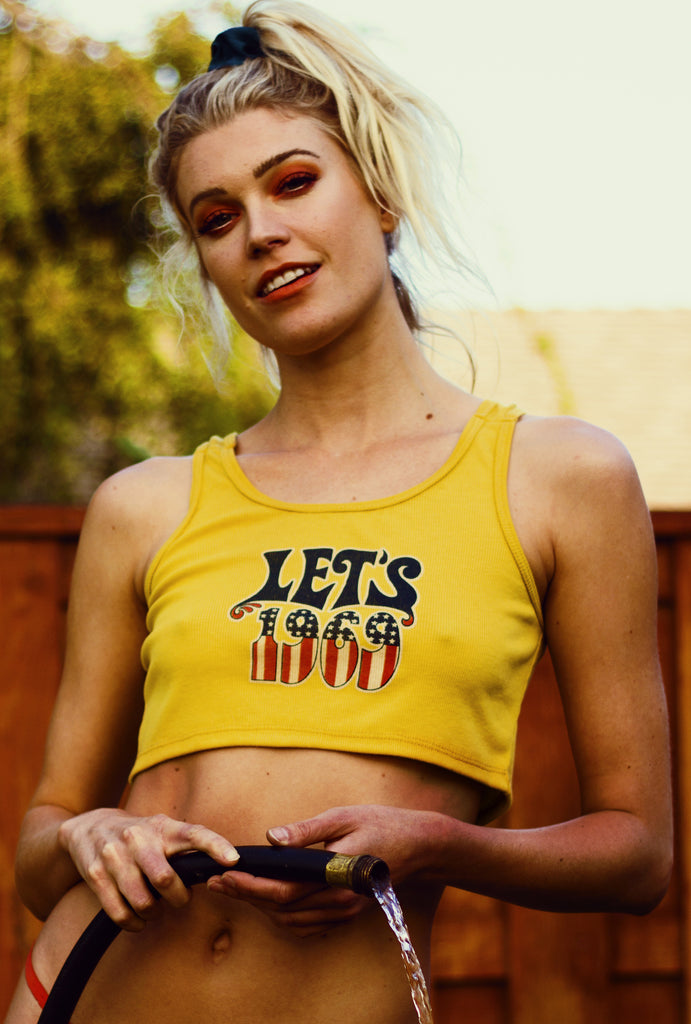 Let's 1969 ★ Amber Waves Crop Tank