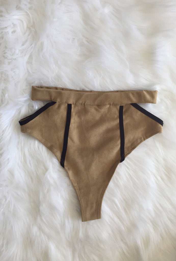Stevie High Waist- vegan suede- SMALL