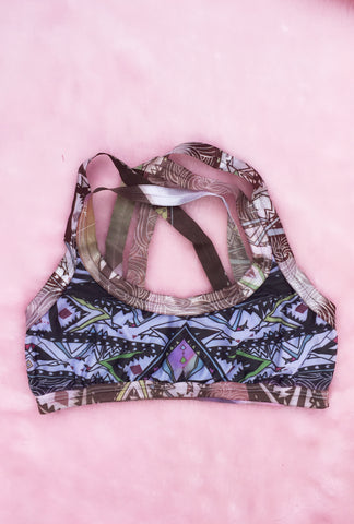 Tribal Pull-Over Bra