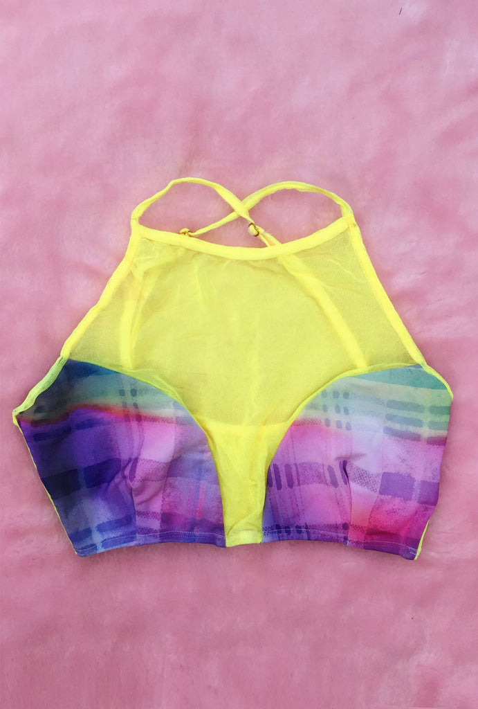 Neon Swimsuit Top- Size Small