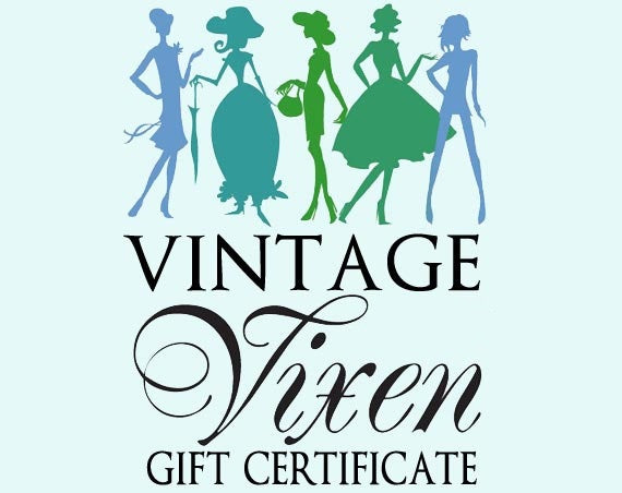 Vintage Clothing Gift Certificate