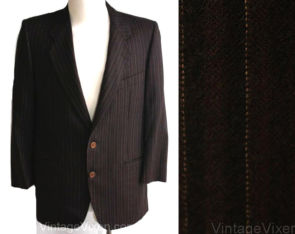 Men's Small Suit Jacket - Designer Ted Lapidus - 1950s-Inspired Gangster Look Men's Cashmere Sport Coat - 80s Does 50s - Chest 39 - 34986