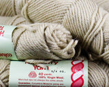 Beige Wool Tapestry Yarn - One Single Skein 3/4 Ounce - Sand Ecru Natural Light Tan Knitting Crochet Fiber Arts - Columbia Minerva England