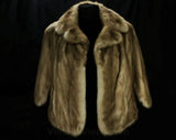Mink Fur Stole - Small 1950s 60s Genuine Fur Cape - Posh Mid Century Glamour - Amber Brown Similar to Autumn Haze - Pretty Capelet Wrap