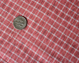 Authentic Victorian Fabric - Nearly 12 Yards - Homespun Pink Striped Cotton Yardage - Reenactors Historical Costuming - Antique Costume