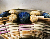 Miniature Baskets with Real Dried Flowers - Wildflower Pins - Lot of 6 On Original Paper Cards - Artisan Made 1950s 1960s Brooch - Pinbacks