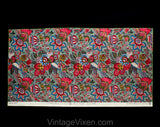 "Beautiful Interior Designer Fabric - The Persian Splendors - 1.4 Yards x 28"" - French 1980s Decorator Sample for Upholstery Drapes Cushions"