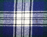 Girl's Size 10 Skirt - Highland Style Forest & Navy Tartan 50s Girl's Kilt Skirt with Fringe and Buckles - Wool with Shoulder Straps - 42027