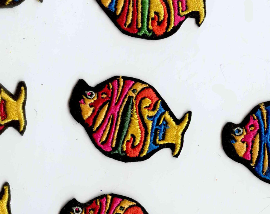 Phish Band Patch - Early 1990s Rocker - Funk Rock Folk Pop Alternative Genre - Tropical Fish Shaped Alt Music Rainbow Applique for Jacket