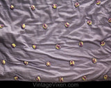 1950s Lavender Quilted Cotton Comforter - Authentic 40s 50s Light Pastel Purple Cottage Twin Bedspread Coverlet with Tufted Wool Pom Poms