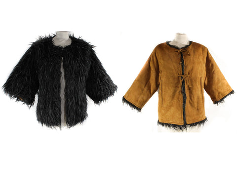 Small Bonnie Cashin 1960s Suede Jacket with Shaggy Reversible Lining - 60s Rare Design - Brown Black Gray Mod Designer Faux Fur - Bust 34.5