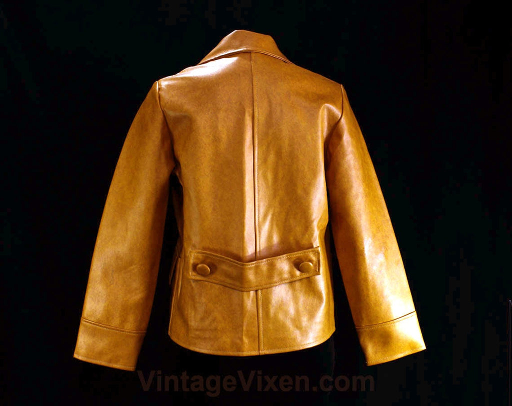 1960s Vintage Med MOD Domed Glossy Mustard Yellow Coat Jacket Dress Buttons-23mm