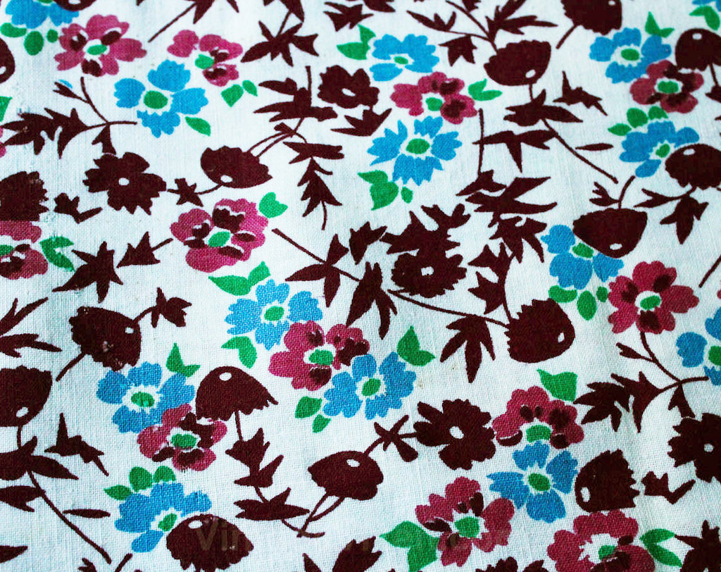 1930s Feedsack Fabric - Three Full Sacks - Each 37 x 41 Inches Yardage - 30s Grain Sack Panel Lot - Deco Floral Cotton Blue Pink Green Red