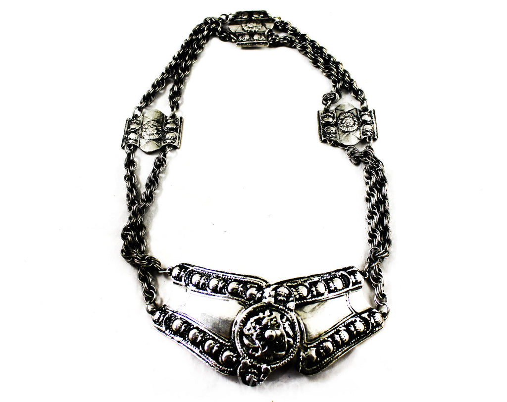 Medieval Style 1960s Silver Hip Belt - Size 6 to 10 Antique Inspired Metal Chainlink - Small Medium 60s Accessocraft Design - Waist Jewelry