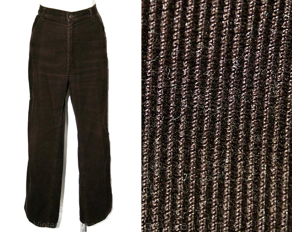 Men's Large Corduroy Pant - 1970s Chocolate Brown Cords - Boot Cut Levi's - 70s 80s Levis Mens - Waist 36 - Inseam 29.25 - 33486-1