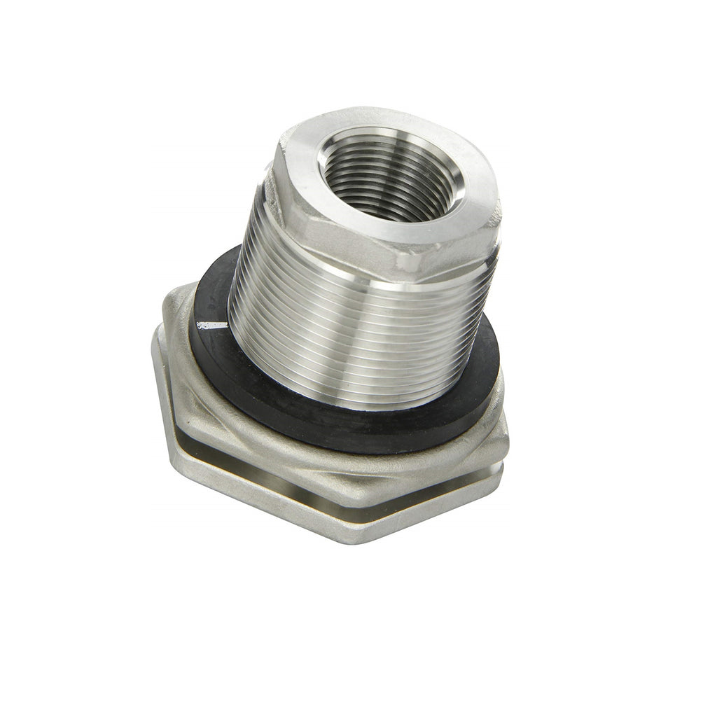 threaded tank outlet fitting stainless steel seals gaskets