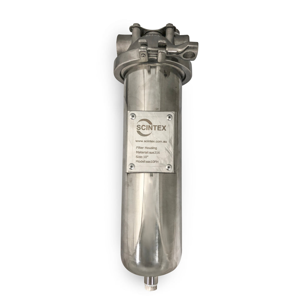 scintex stainless steel water filter element housing filtration