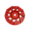 Concrete grinder polisher disc 175mm Hard Bond 150 grit 9 segment
