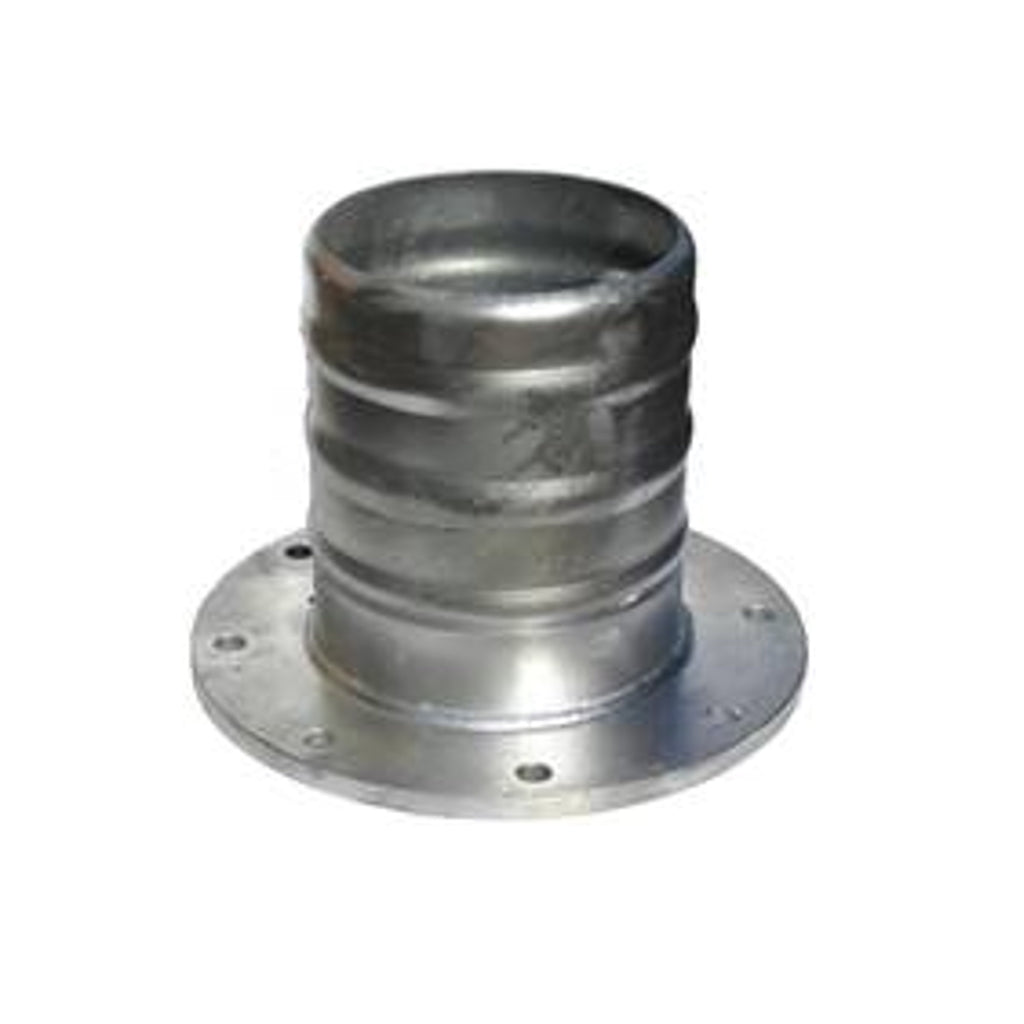 Galvanised hose tail to table D flange