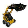 mini digger loader bucket grabbing