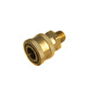 Pressure washer fitting brass 3-8 QD x 3-8 Male