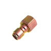 Pressure washer fitting brass 3-8 QD plug x 3-8 Female