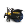 mini digger loader skid steer sweeper